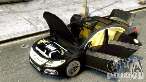 Volkswagen CC для GTA 4 вид сзади слева