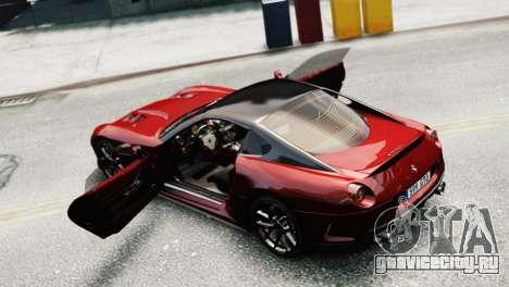 Ferrari 599 GTO для GTA 4 вид справа