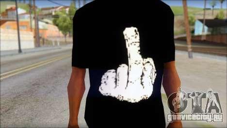 Black T-Shirt wBlack T-Shirt with middle finger для GTA San Andreas третий скриншот