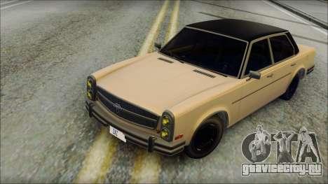 Benefactor Glendale from GTA 5 для GTA San Andreas вид сзади
