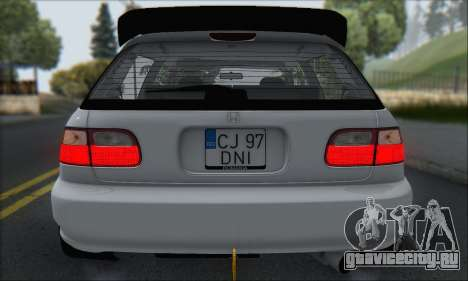 Honda Civic 1995 для GTA San Andreas колёса