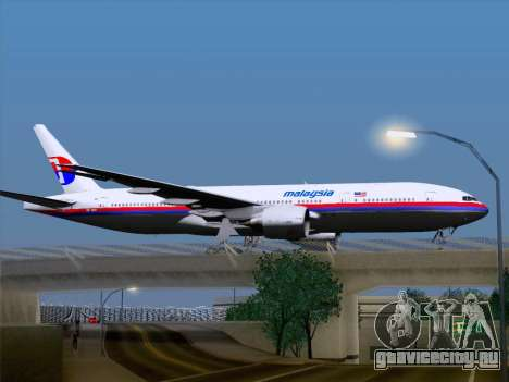 Boeing 777-2H6ER Malaysia Airlines для GTA San Andreas вид справа
