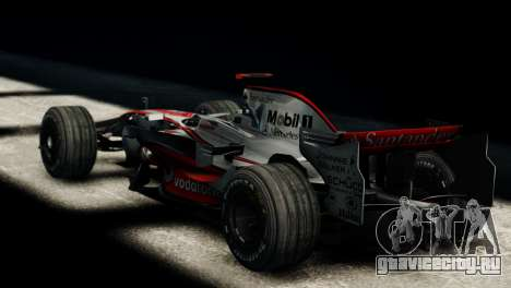McLaren MP4-23 F1 Driving Style Anim для GTA 4 вид слева