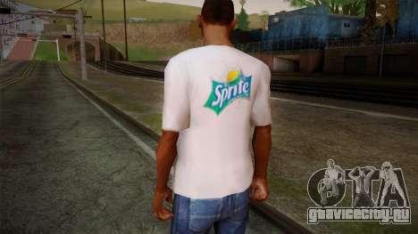 Sprite Shirt White для GTA San Andreas второй скриншот
