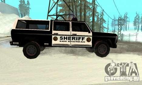 New Police Ranger для GTA San Andreas вид слева