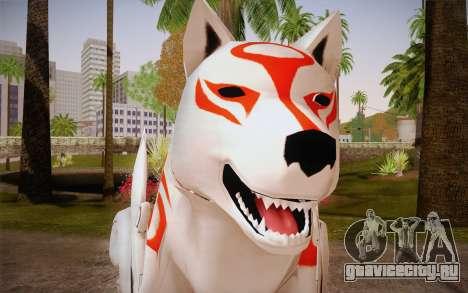 Amaterasu Okami для GTA San Andreas третий скриншот