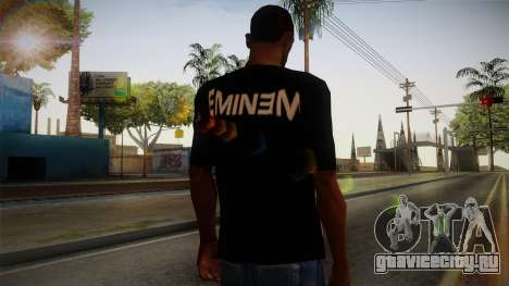 Eminem Fuck Off T-Shirt для GTA San Andreas второй скриншот