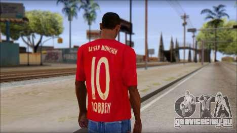 Bayern München 2013 T-Shirt для GTA San Andreas второй скриншот