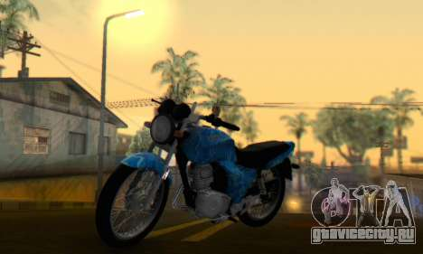 Yamaha YBR Blue Star для GTA San Andreas вид сзади слева
