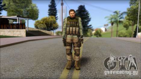 Chris Europa from Resident Evil 6 для GTA San Andreas