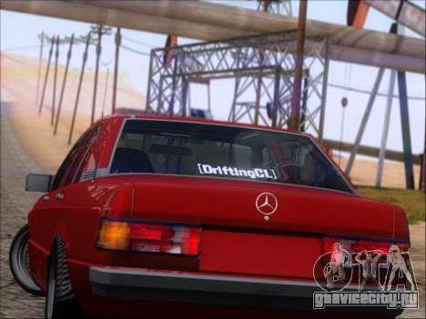 Mercedes Benz 190E Drift V8 для GTA San Andreas