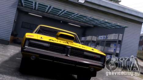 Dodge Charger RT 1969 EPM для GTA 4 вид изнутри