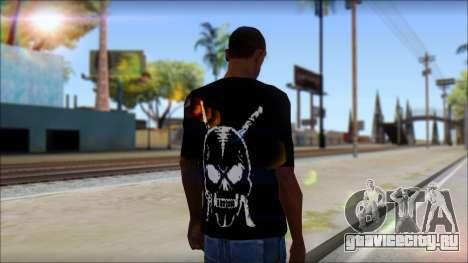 Black T-Shirt wBlack T-Shirt with middle finger для GTA San Andreas второй скриншот