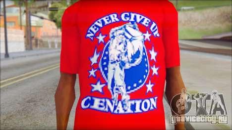 John Cena Red Attire T-Shirt для GTA San Andreas третий скриншот