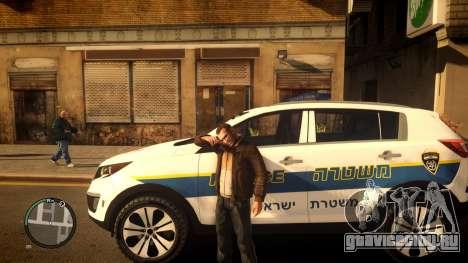 Kia Sportage Israel Police car (Mishtara) для GTA 4 вид слева