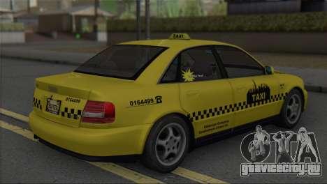 Audi A4 1.9 TDI 2000 Taxi для GTA San Andreas вид слева