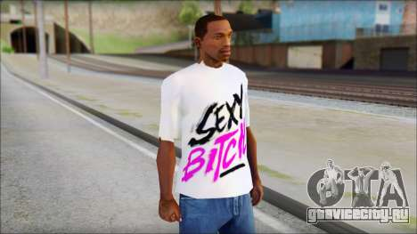 David Guetta Sexy Bitch T-Shirt для GTA San Andreas