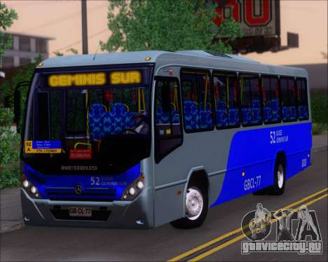 Neobus Spectrum City Mercedes Benz OF-1722 для GTA San Andreas
