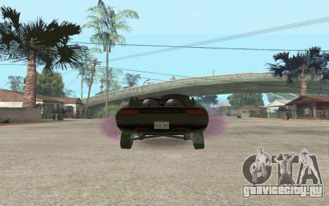 Interceptor для GTA San Andreas вид сзади слева
