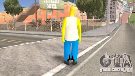 Homer Simpson Skin для GTA San Andreas второй скриншот