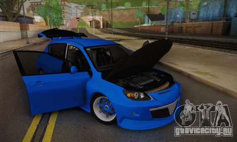 Mazda Speed 3 Tuning для GTA San Andreas вид справа
