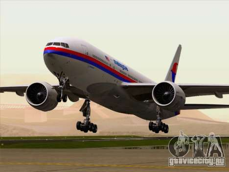 Boeing 777-2H6ER Malaysia Airlines для GTA San Andreas