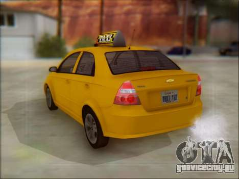 Chevrolet Aveo Taxi для GTA San Andreas вид сзади