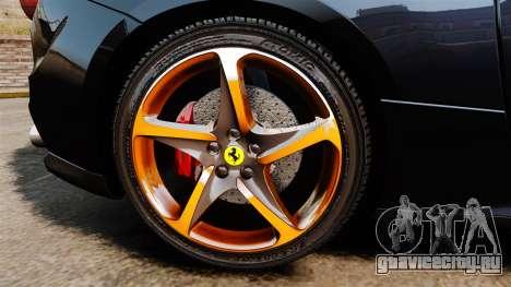 Ferrari FF 2011 для GTA 4 вид сзади