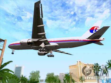 Boeing 777-2H6ER Malaysia Airlines для GTA San Andreas вид сверху