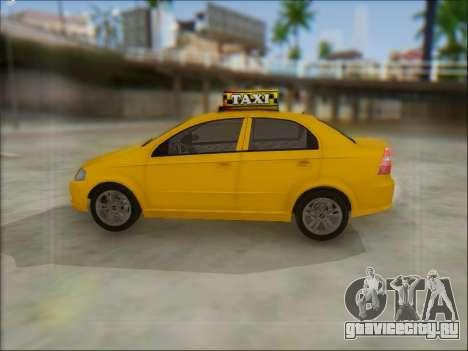 Chevrolet Aveo Taxi для GTA San Andreas вид справа