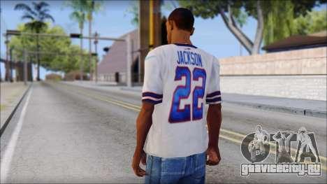 NY Buffalo Bills White для GTA San Andreas второй скриншот