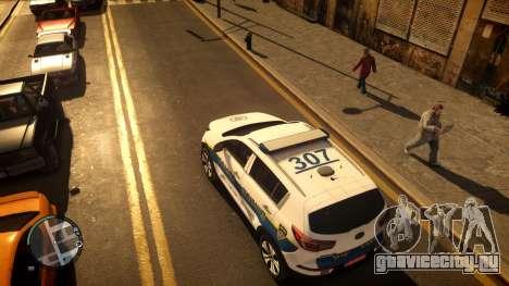 Kia Sportage Israel Police car (Mishtara) для GTA 4 вид сзади слева