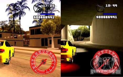 Спидометр Concept StyleV4x3 для GTA San Andreas второй скриншот
