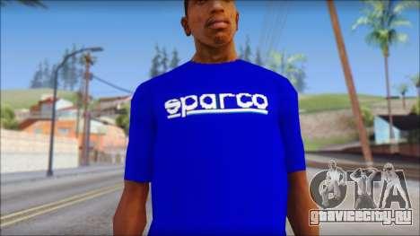 Sparco T-Shirt для GTA San Andreas третий скриншот