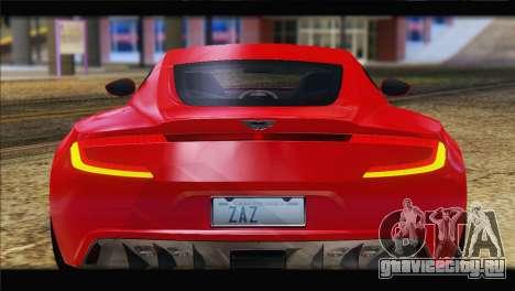 Aston Martin One-77 2010 для GTA San Andreas вид изнутри