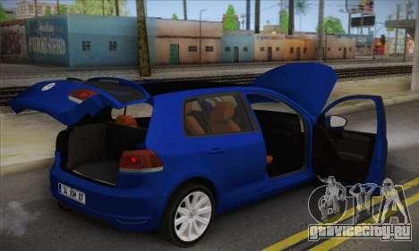 Volkswagen Golf Mk6 2010 для GTA San Andreas вид сзади