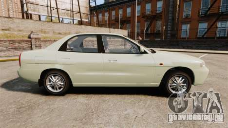 Daewoo Nubira I Sedan CDX PL 1997 для GTA 4 вид слева