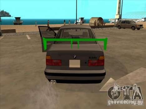 BMW 535i для GTA San Andreas вид сзади слева