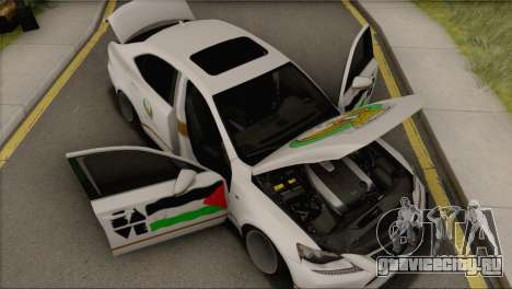 Lexus IS350 FSport 2014 Hellaflush для GTA San Andreas