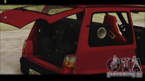 ВАЗ 1111 Ока для GTA San Andreas вид снизу