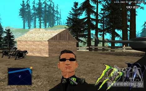 C-HUD Monster Energy для GTA San Andreas второй скриншот