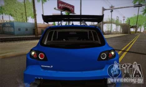 Mazda Speed 3 Tuning для GTA San Andreas вид сбоку