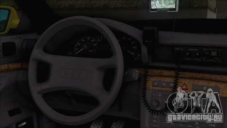 Audi A4 1.9 TDI 2000 Taxi для GTA San Andreas вид сзади слева