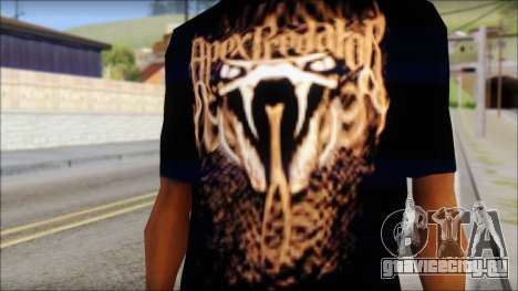 Randy Orton Black Apex Predator T-Shirt для GTA San Andreas третий скриншот