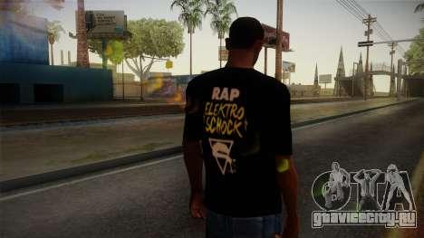 Silla Rap Elektro Schock Shirt для GTA San Andreas второй скриншот