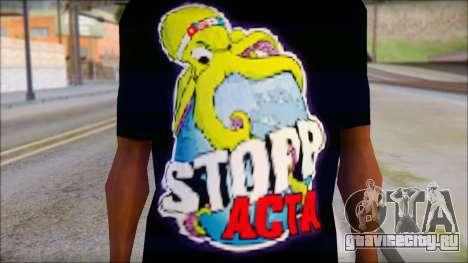 Anti ACTA T-Shirt для GTA San Andreas третий скриншот