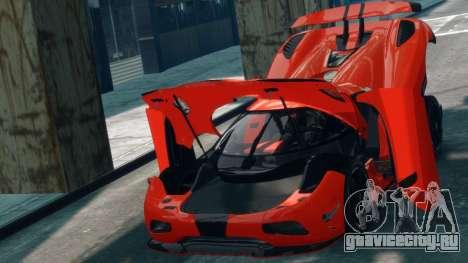 Koenigsegg Agera R 2013 для GTA 4 вид сзади