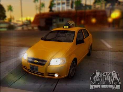 Chevrolet Aveo Taxi для GTA San Andreas вид снизу