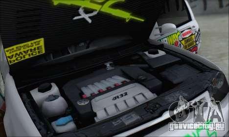Volkswagen Golf MK4 R32 для GTA San Andreas двигатель