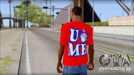 John Cena Red Attire T-Shirt для GTA San Andreas второй скриншот